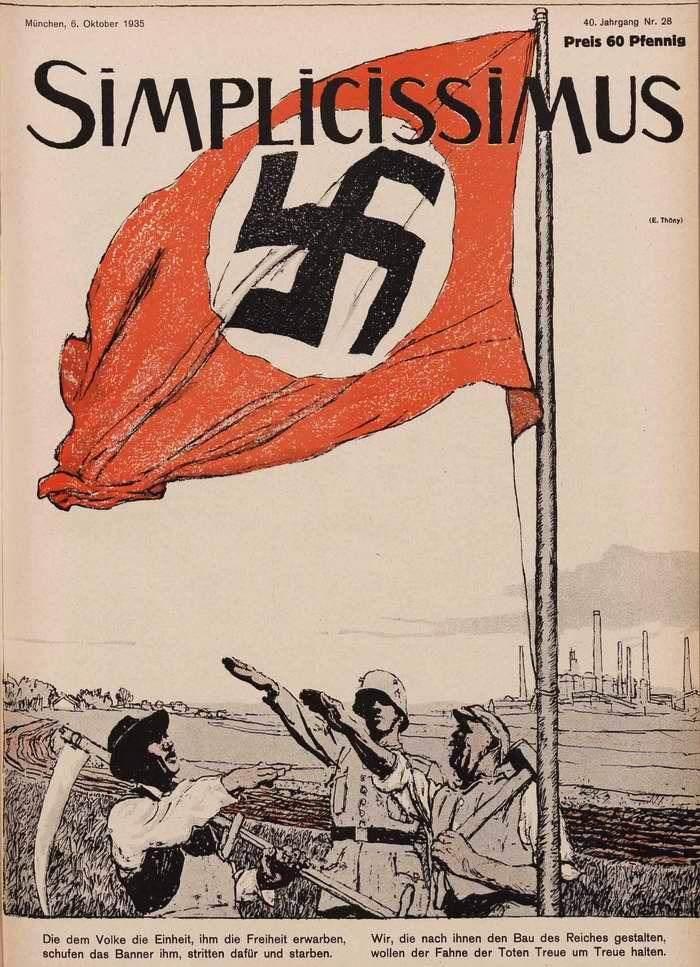 Мы обращаемся ко всему народу, который под знаменем свободы боролся и погибал за нее (Simplicissimus)