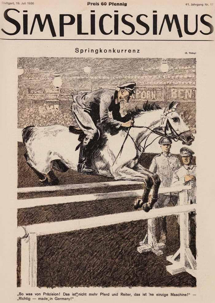 На конно-спортивных соревнованиях (Simplicissimus)