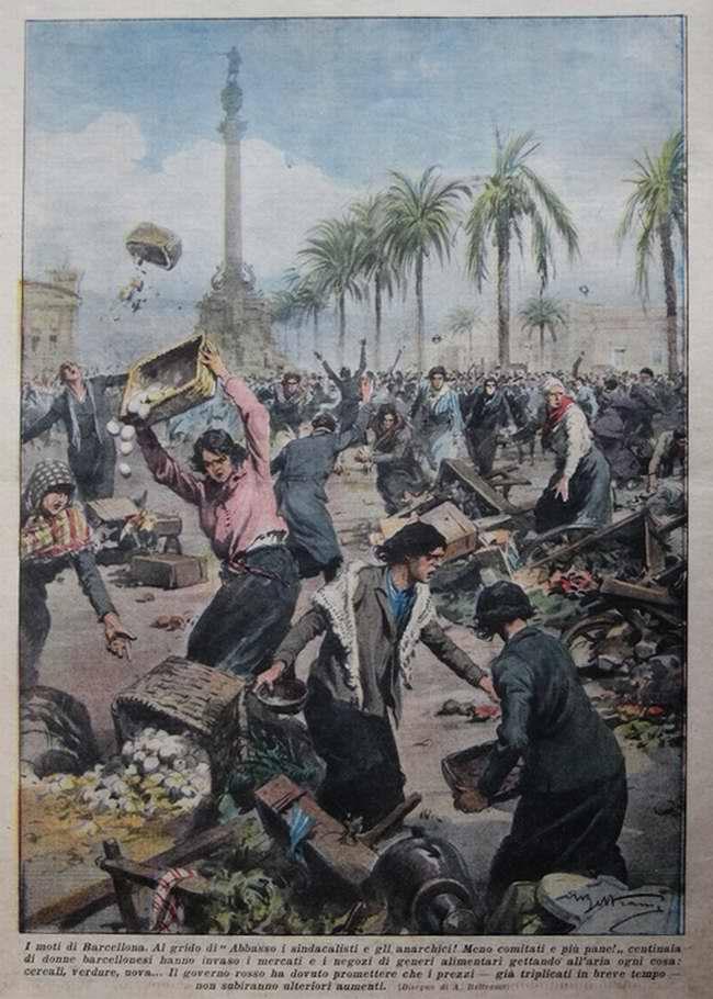 Протестное движение в республиканской Барселоне - La Domenica del Corriere