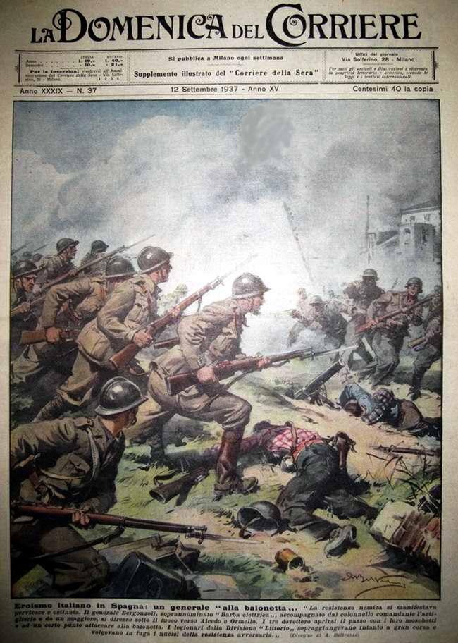 Героизм итальянских легионеров в Испании - La Domenica del Corriere