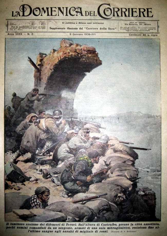 Пример героизма защитников города Теруэль (восточная часть Испании) - La Domenica del Corriere