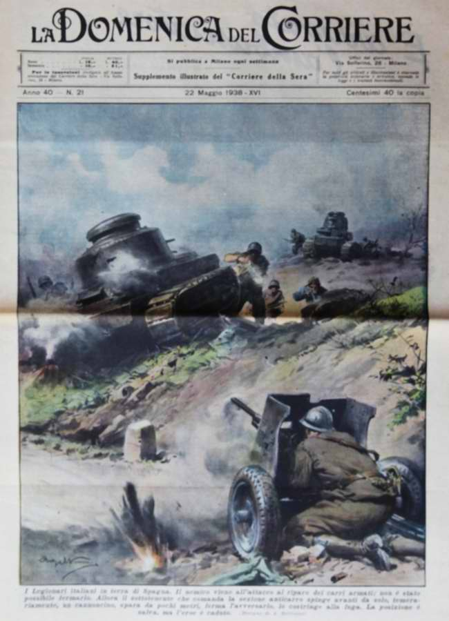 Итальянские легионеры на испанской земле - La Domenica del Corriere