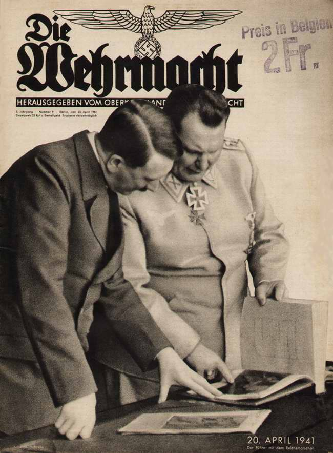 Гитлер и Геринг 20 апреля 1941 года