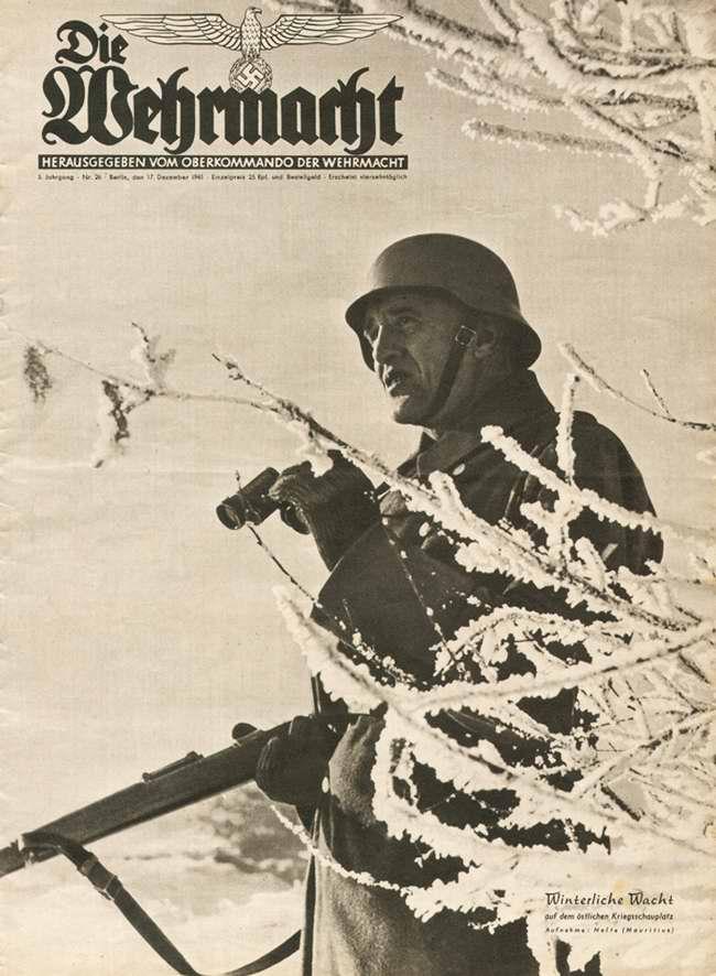 Зимняя вахта на Восточном фронте: немецкий солдат в дозоре