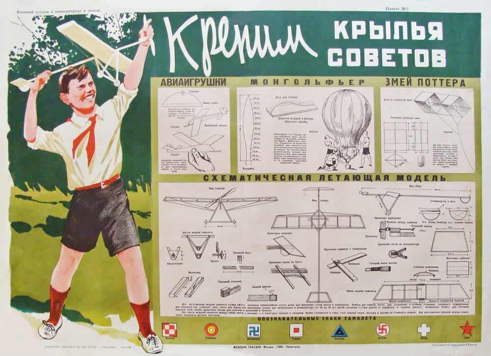Военный уголок в пионеротряде и школе: Крепим крылья Советов (1930 год)