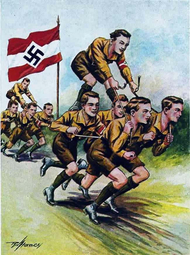 Командные военно-спортивные соревнования членов гитлерюгенда (1934 год)