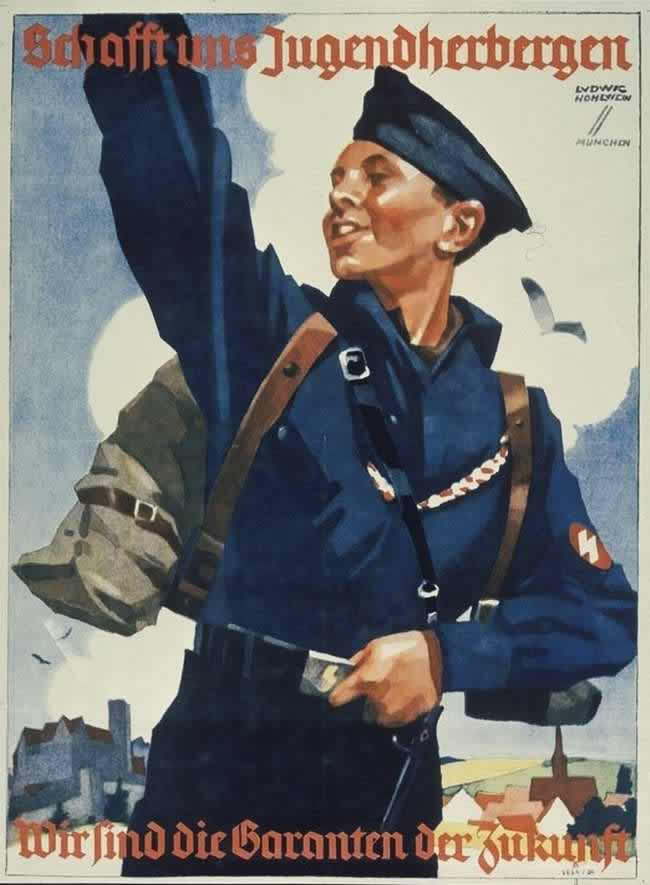 Поселяйтесь в наши молодежные общежития. Мы являемся гарантами будущего (1934 год)