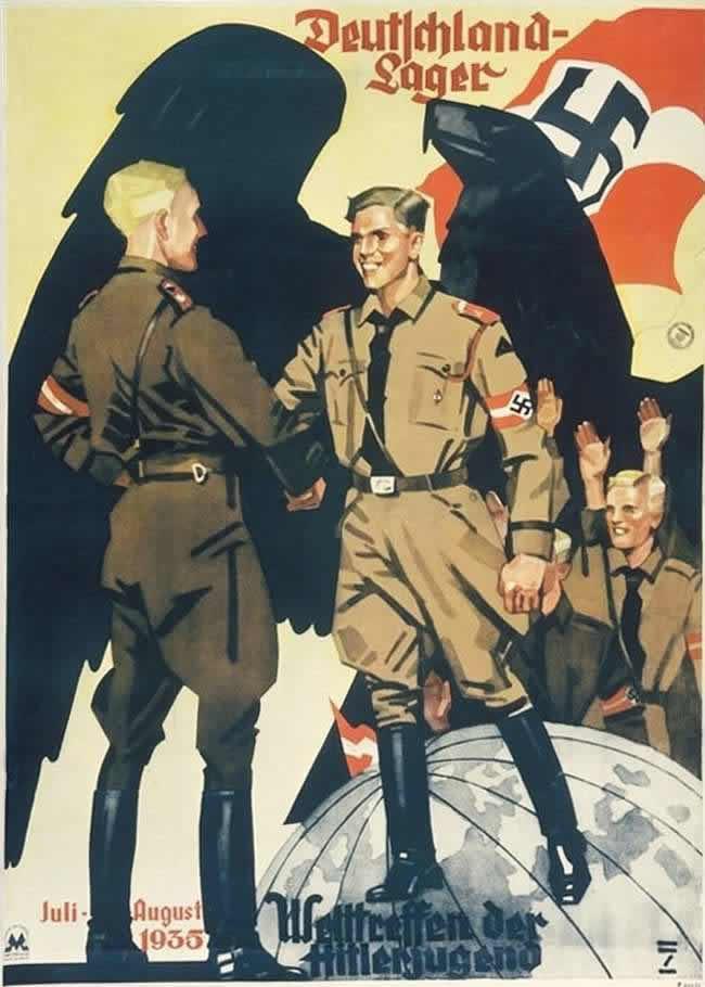 Слет членов гитлерюгенда из разных стран мира на территории Германии (июль - август 1935 года)