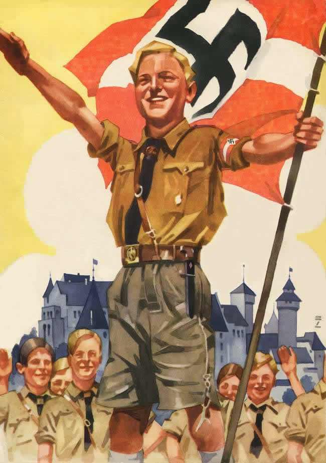 Почтовая открытка, посвященная молодежи III рейха (1936 год)