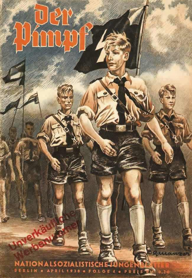 Обложка журнала Pimpf (для младшей возрастной группы членов гитлерюгенда) - 1938 год