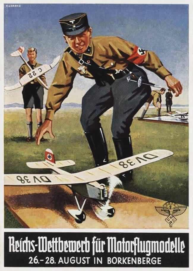 Общегерманские соревнования действующих моделей самолетов в Брокенберге (август 1938 года)