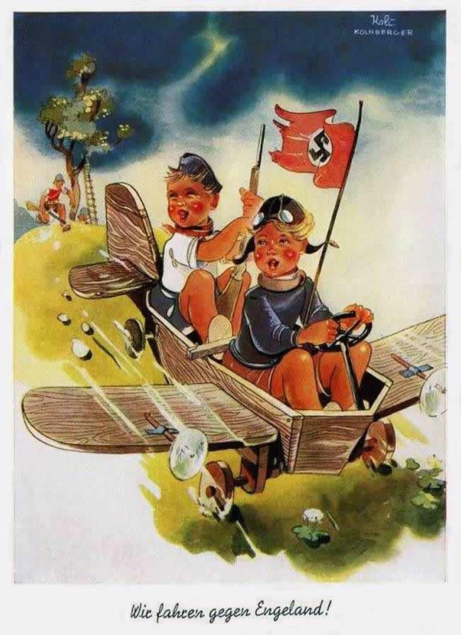Мы едем воевать против Англии (изображение с открытки) - 1940 год