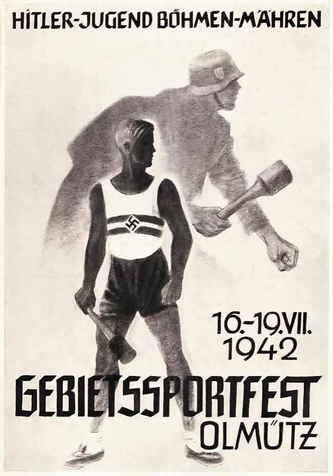 Гитлерюгенд Богемии и Моравии. Региональный спортивный праздник в городе Оломоуц (1942 год)