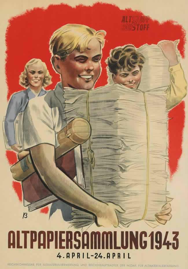 Занимайтесь сбором макулатуры (1943 год)