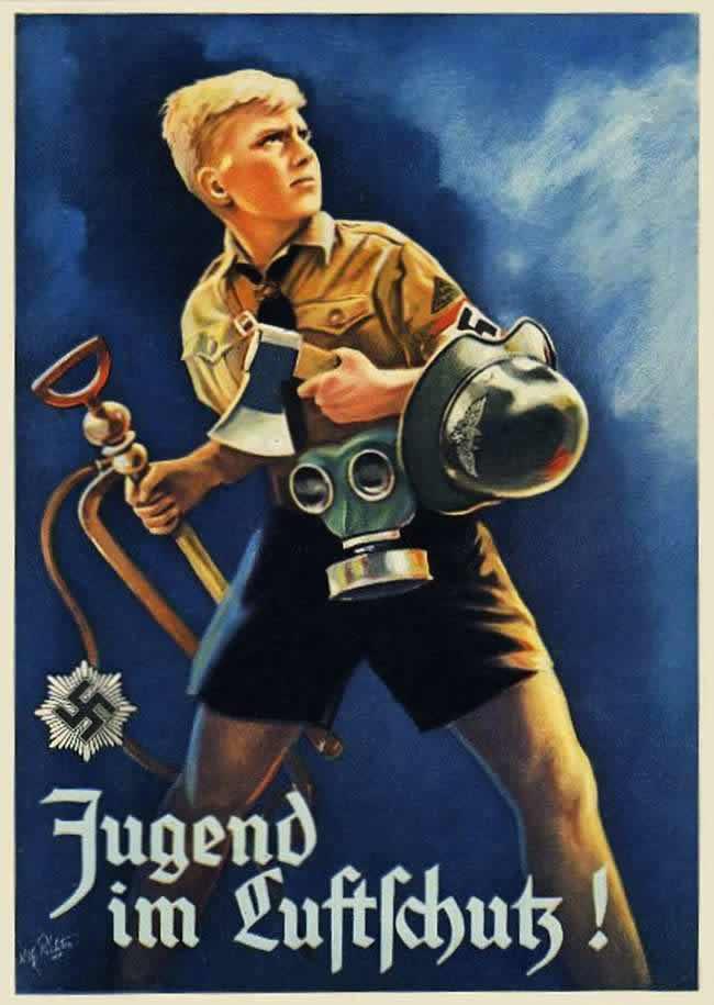 Молодежь, вступай в состав сил гражданской и противовоздушной обороны! (1943 год)