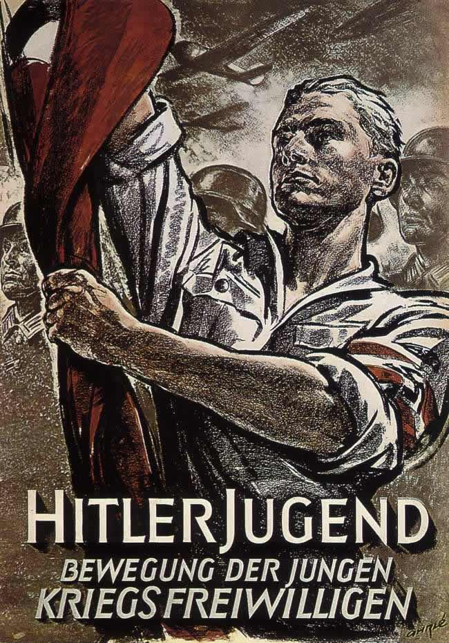Гитлерюгенд - это движение молодых добровольцев, готовых участвовать в войне (1944 год)