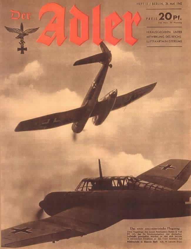 Первый самолет ассиметричной конструкции Blohm & Voss BV 141