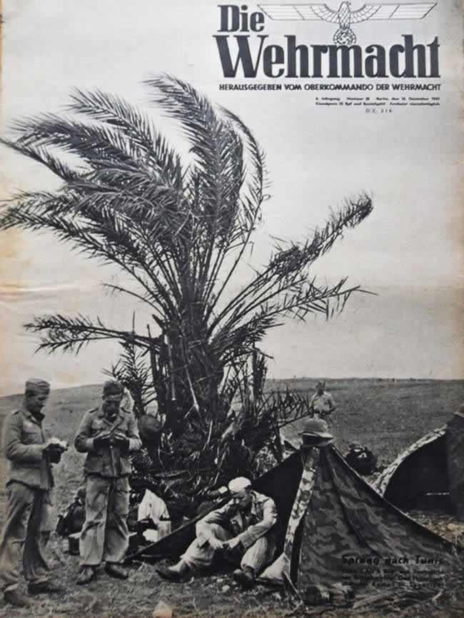 Немецкие солдаты в Тунисе