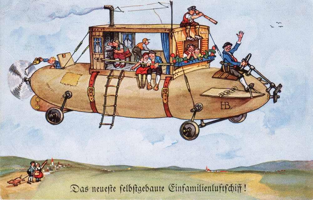 Новый самодельный дирижабль семейного типа (Das neueste selbstgebaute Einfamilienluftschiff), Германия