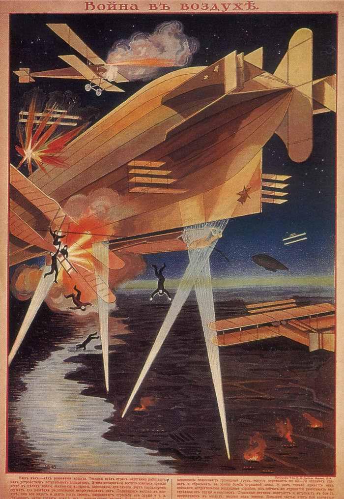 Война в воздухе, Россия, 1914 год