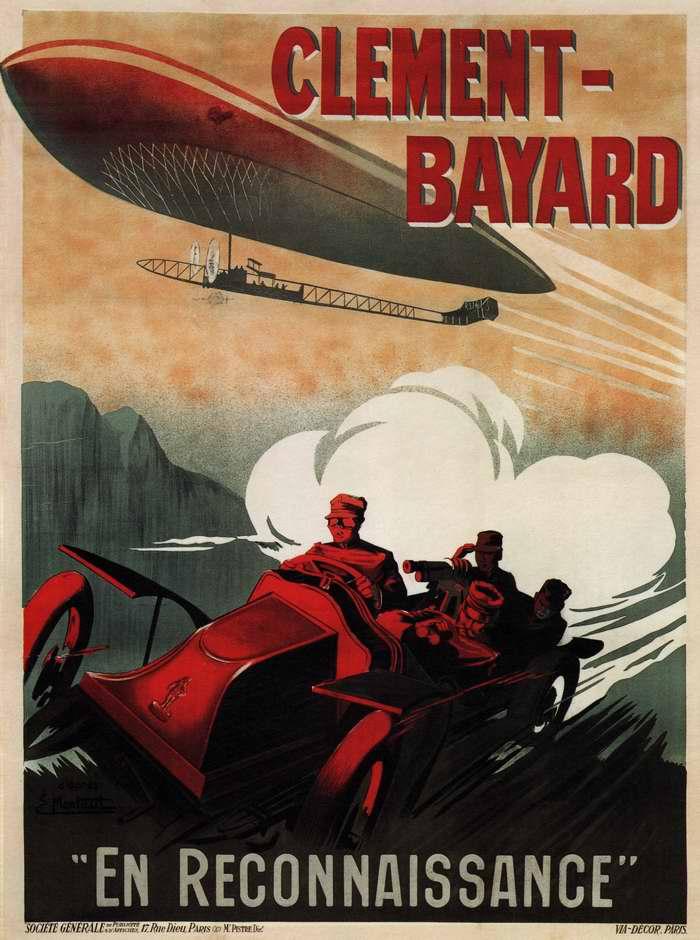 В знак признания. Компания Клеман-Байяр (Clement-Bayard) - производитель автомобилей, самолетов и дирижаблей, Франция, 1915 год