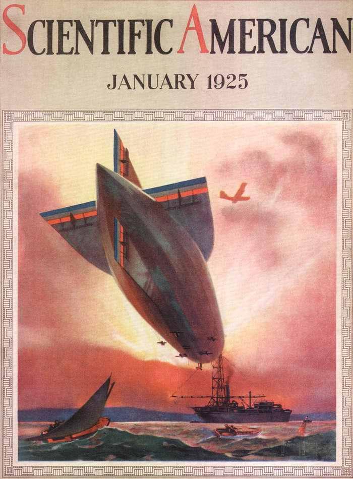 Дирижабль с обложки журнала Scientific American,  США, 1925 год