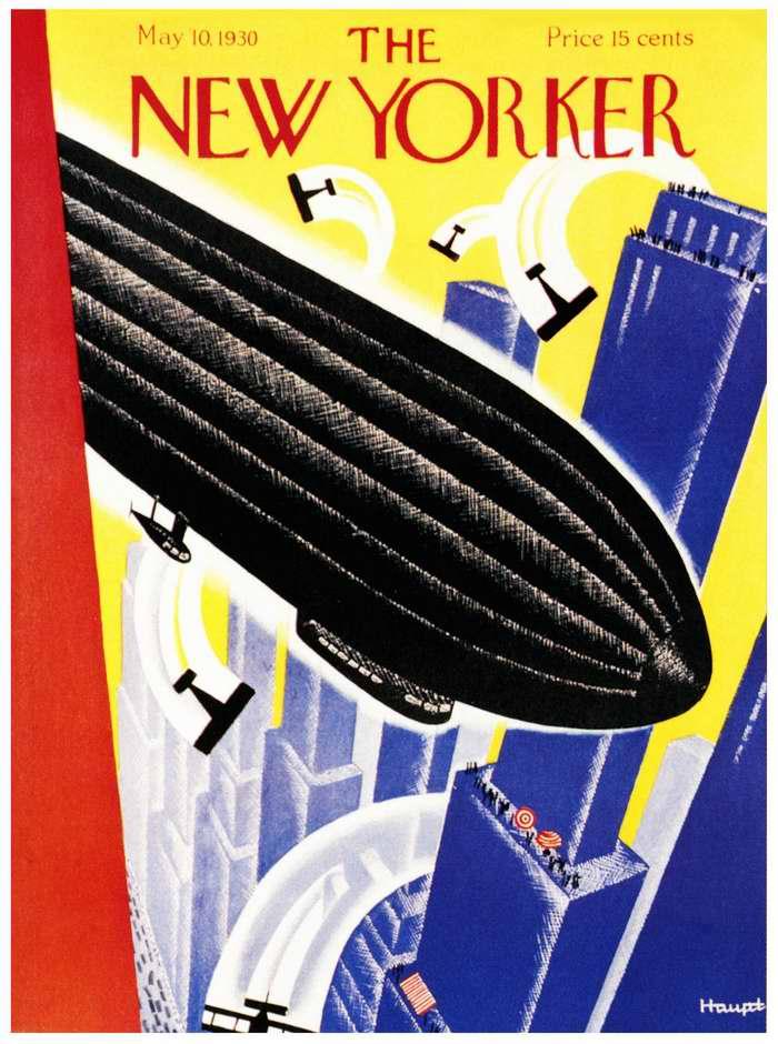 Дирижабль с обложки журнала The New Yorker, США, 1930 год