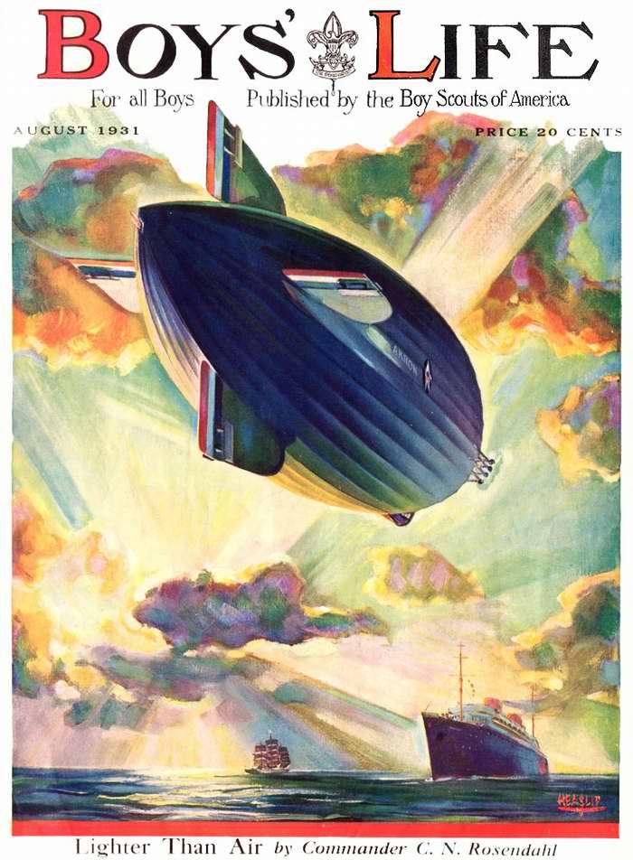 Дирижабль с обложки журнала Boys Life, США, 1931 год