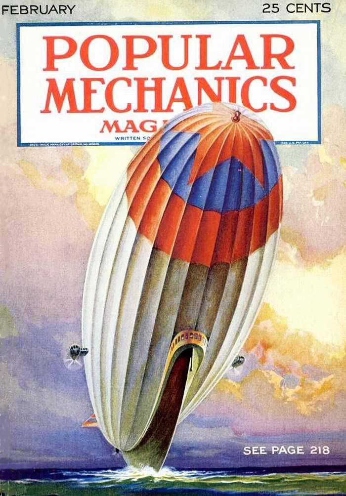Дирижабль с обложки журнала Popular Mechanics, США, 1932 год