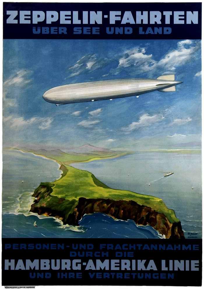Воздушное путешествие над морями и странами - Hamburg - Amerika Linie, Германия, 1935 год