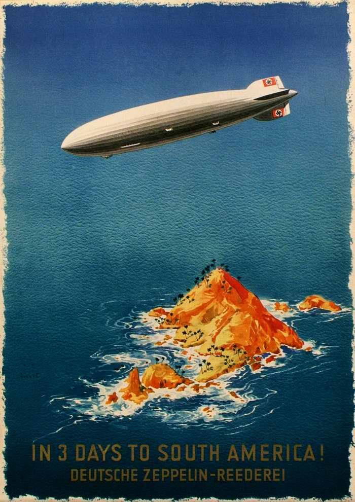 За 3 дня до Южной Америки - компания Deutsche Zeppelin Reederei, Германия, 1936 год
