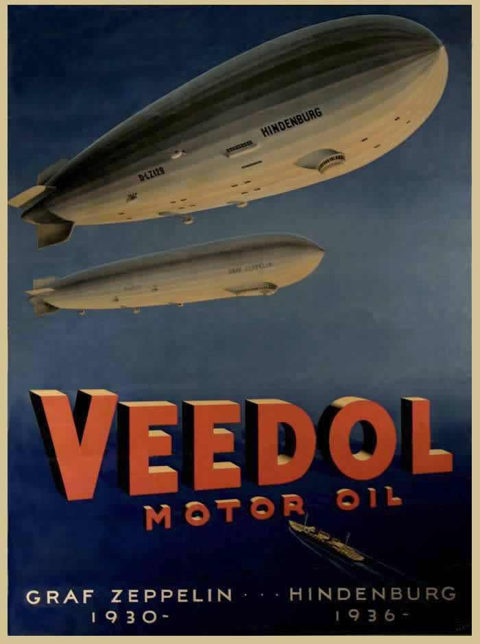 Моторные масла Veedol (Veedol Motor Oil), США, 1936 год