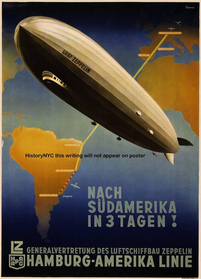 В Южную Америку за 3 дня -  Hamburg - Amerika Linie, Германия, 1937 год