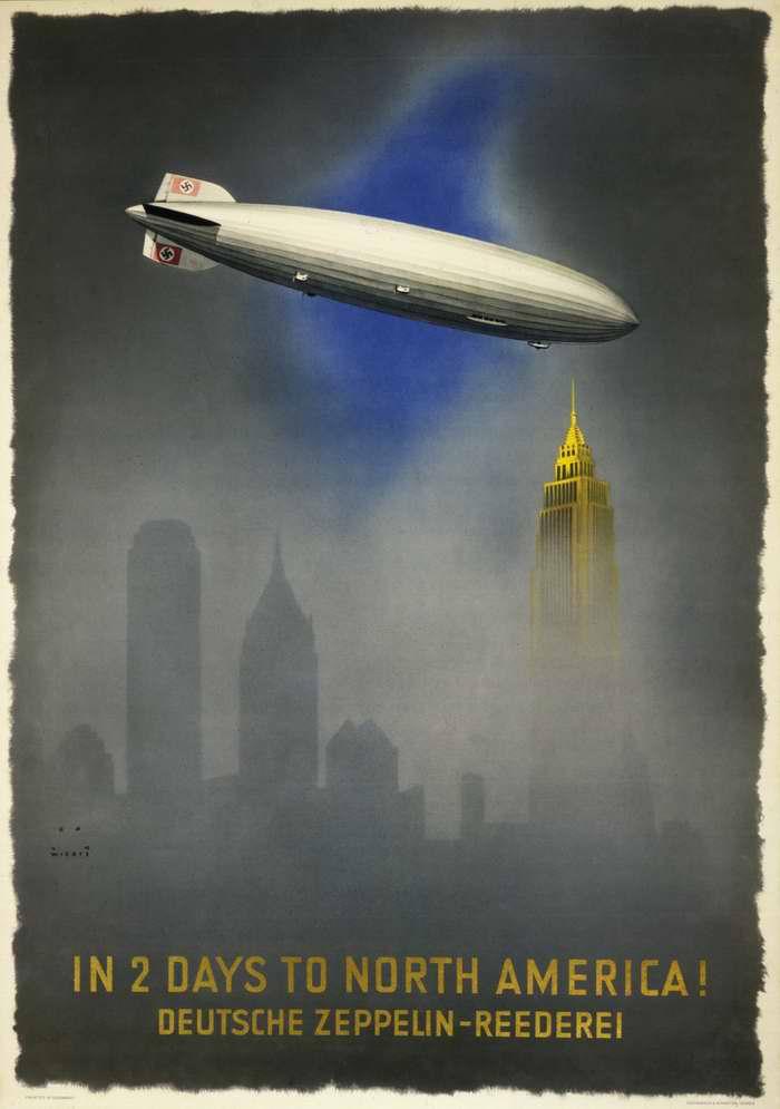 За 2 дня до Северной Америки - компания Deutsche Zeppelin Reederei, Германия, 1937 год