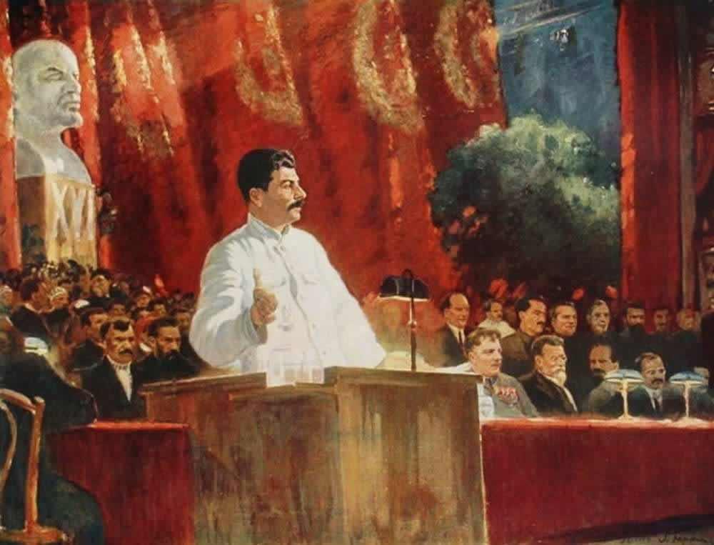 Выступление И. В. Сталина на ХVI съезде партии - Александр Герасимов (1935 год)