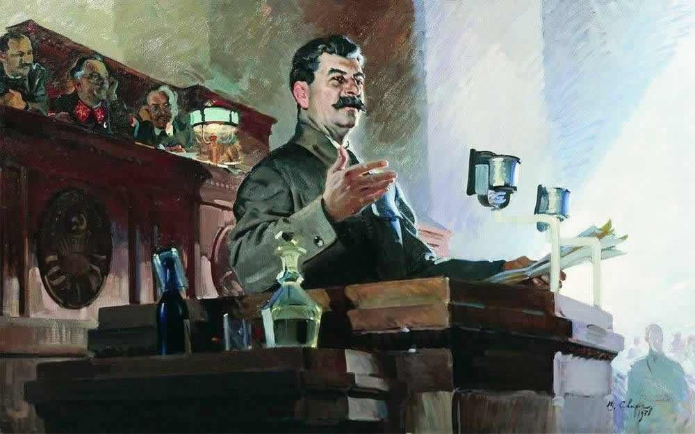 Доклад И. В. Сталина о принятии Конституции 1936 года - Василий Сварог (1938 год)