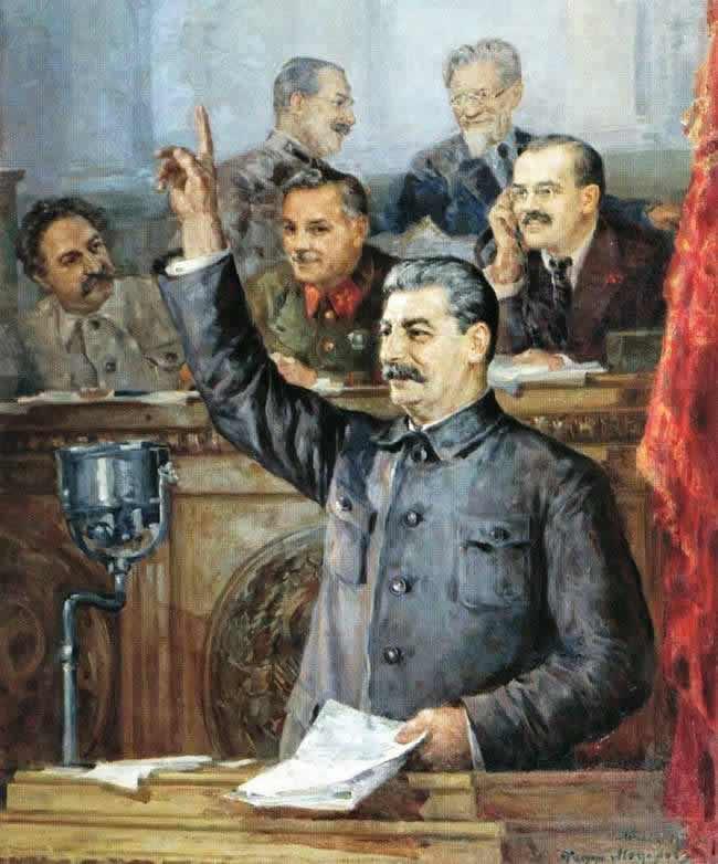 Доклад Сталина на Чрезвычайном VIII съезде Советов о проекте Конституции СССР 25 ноября 1936 года - Федор Модоров (1938 год)
