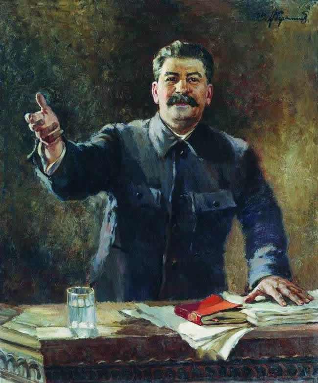 Портрет И. В. Сталина - Александр Герасимов (1939 год)
