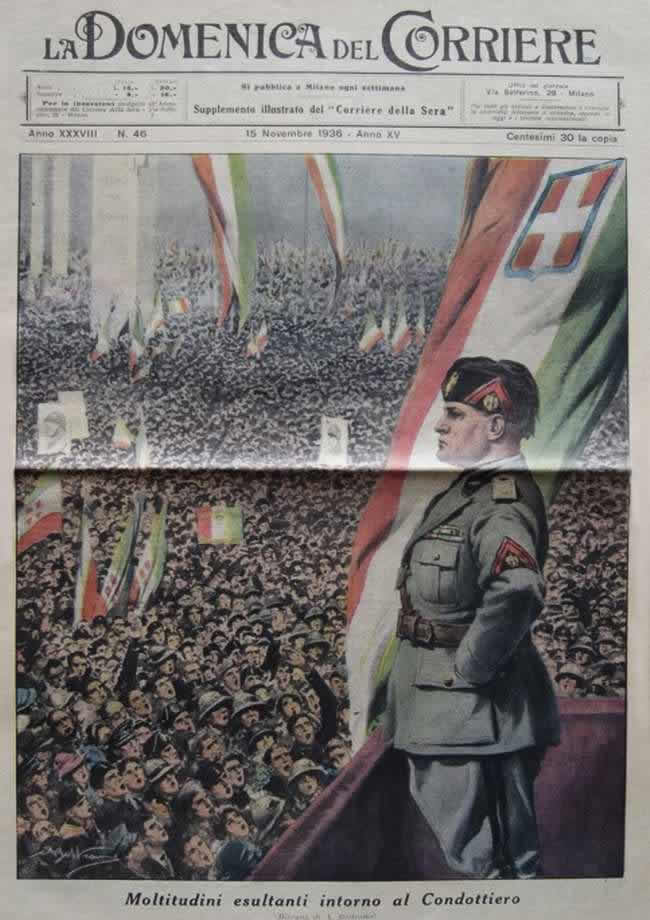 a paper about mussolini Benito mussolini, the italian dictator and founder of the original axis of evil,  war  by publishing propaganda in his paper, the guardian reports.