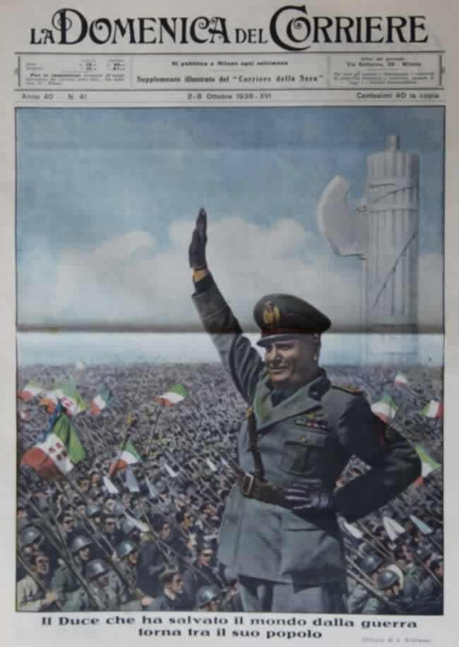 Итальянский дуче, который спас свой народ от начала мировой войны - 1938 год