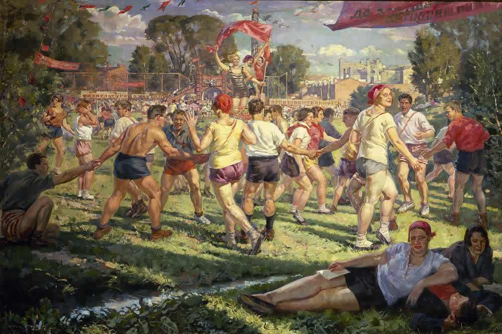 Спортивные игры на стадионе -- С. Луппов (1927)