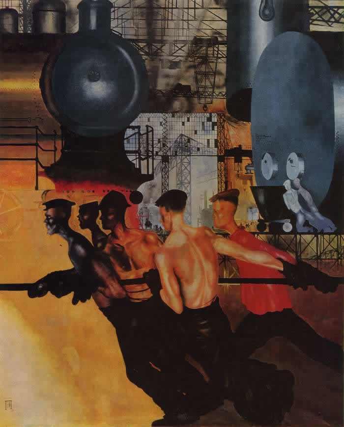 Даешь тяжелую индустрию -- Ю. Пименов (1927)