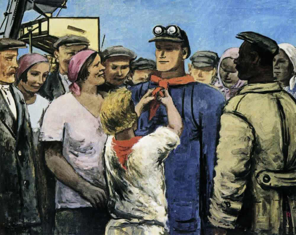 Герои у нас (Ударник) -- С. Адливанкин (1930)