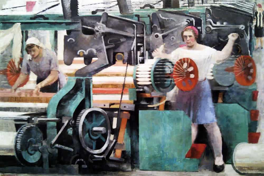 Ткацкий цех -- А. Самохвалов (1930)