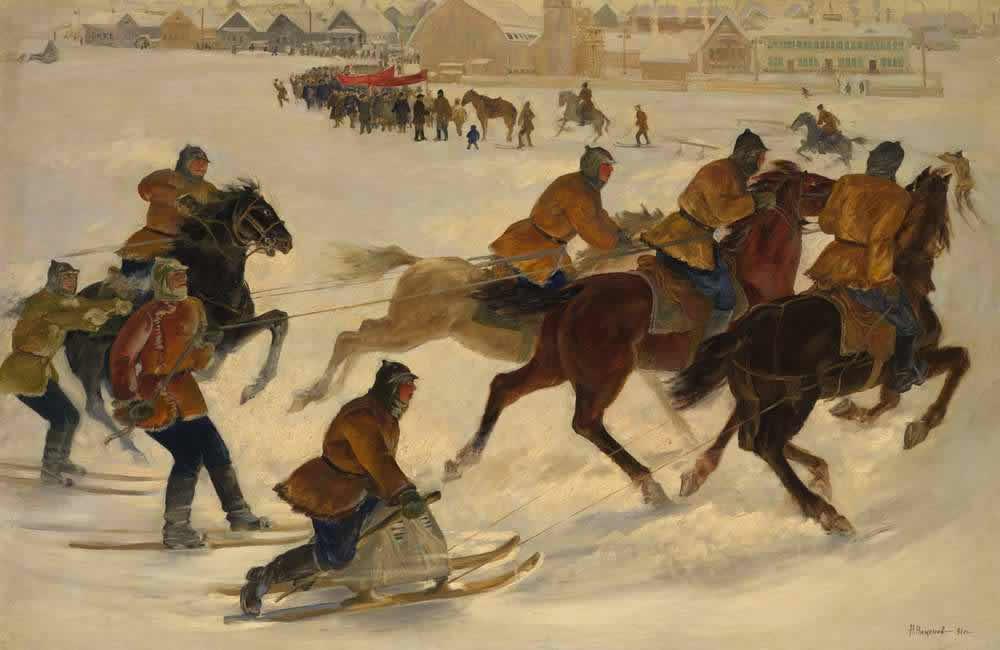 Праздник в колхозе -- Н. Никонов (1931)