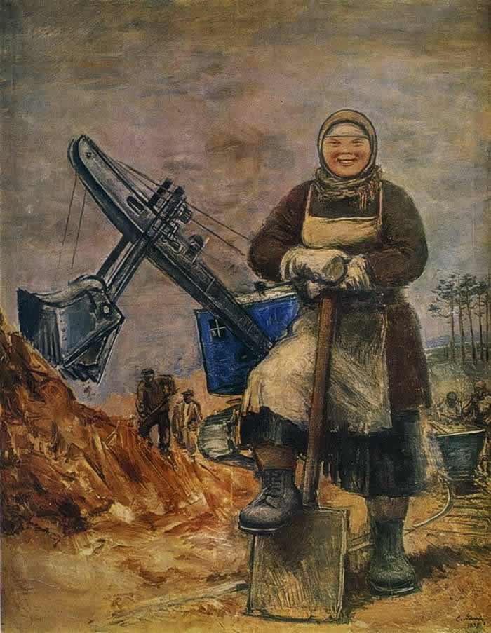 Строительница Уралмаша -- С. Адливанкин (1932)