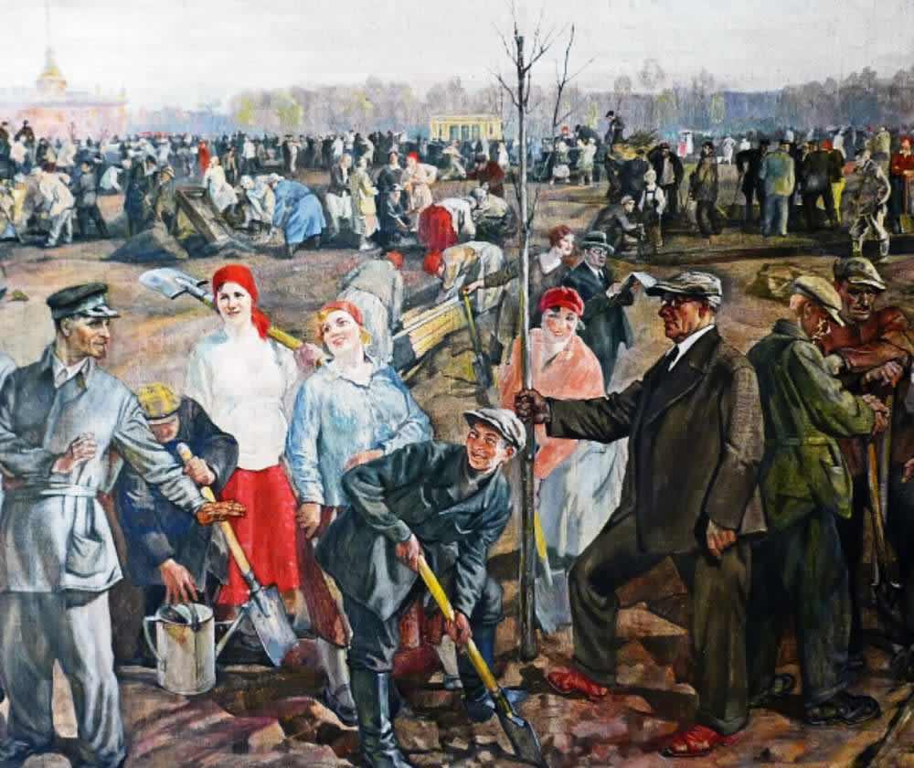 Всероссийский праздник труда 1 мая 1920 года -- П. Бучкин  (1935)