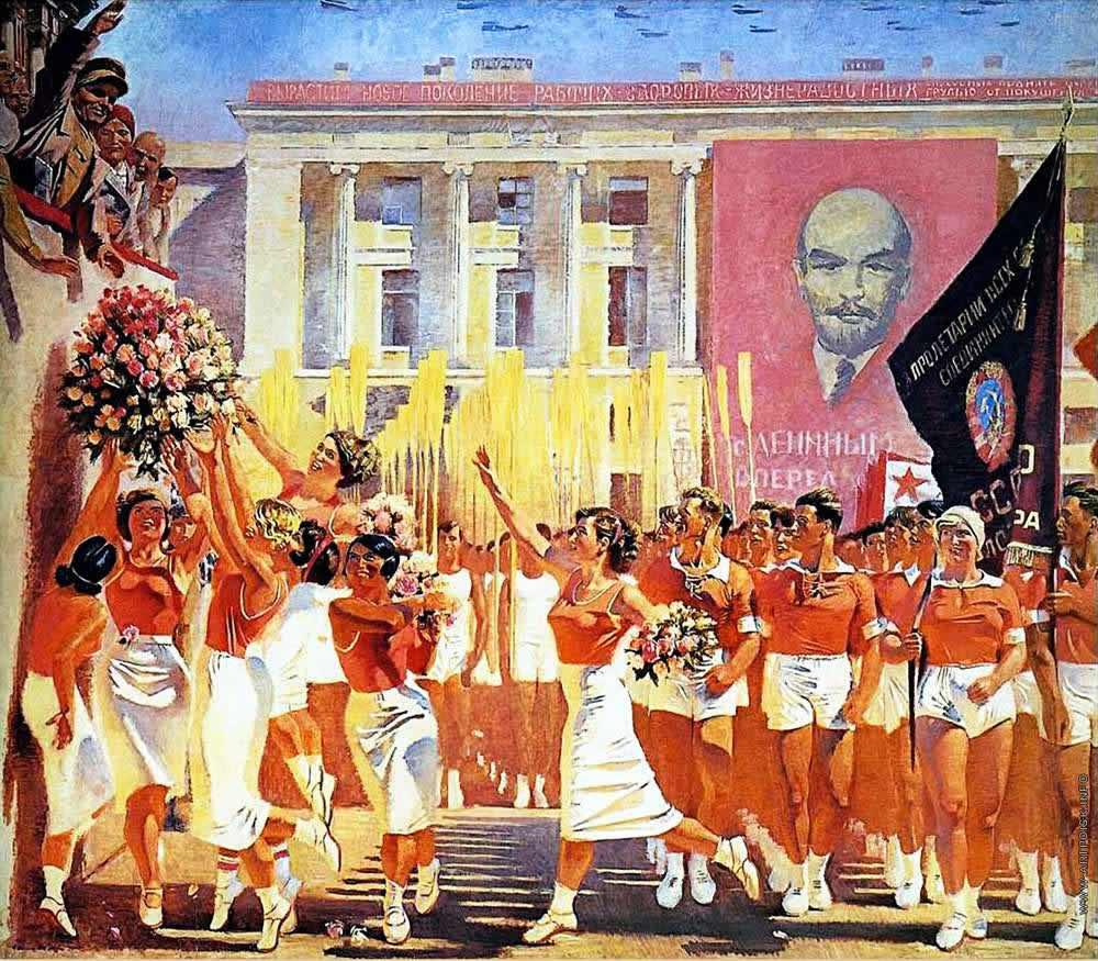 С. М. Киров принимает парад физкультурников -- А. Самохвалов (1935)