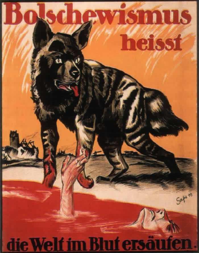 Большевизм - это значит утопить весь мир в крови -- Германия (1919 год)