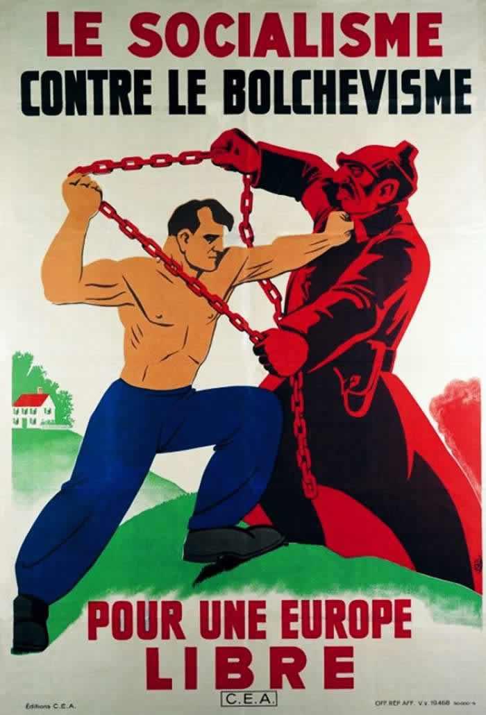 Социализм против большевизма - ради того, чтобы Европа была свободной -- Франция (1941 год)